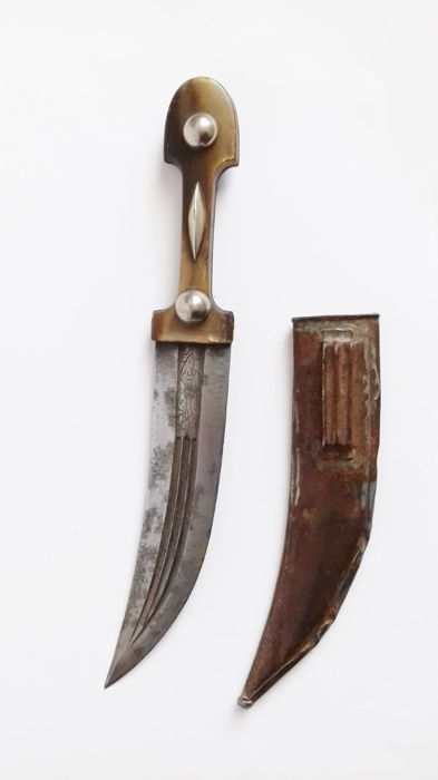 Imperial Russian Kindjal knife with sheath