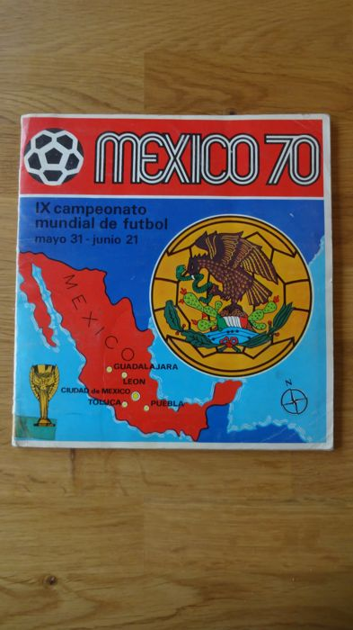Panini - Mexico 70 - Incompleet origineel album + 20 (losgelaten) losse cards.