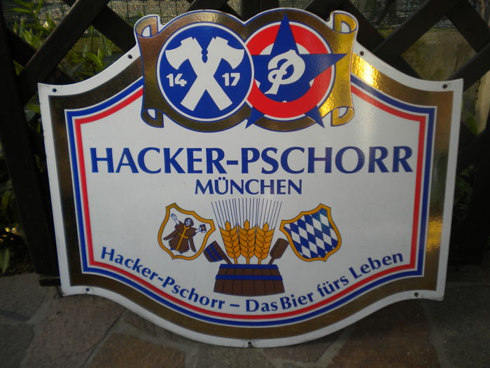 Hacker-Pschorr Brewery metal sign
