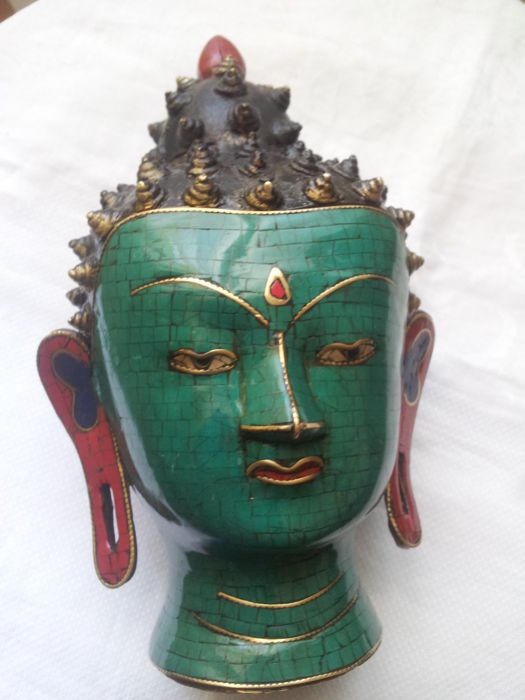Representation of the head of Buddha - Tibet/Nepal, 21st Century