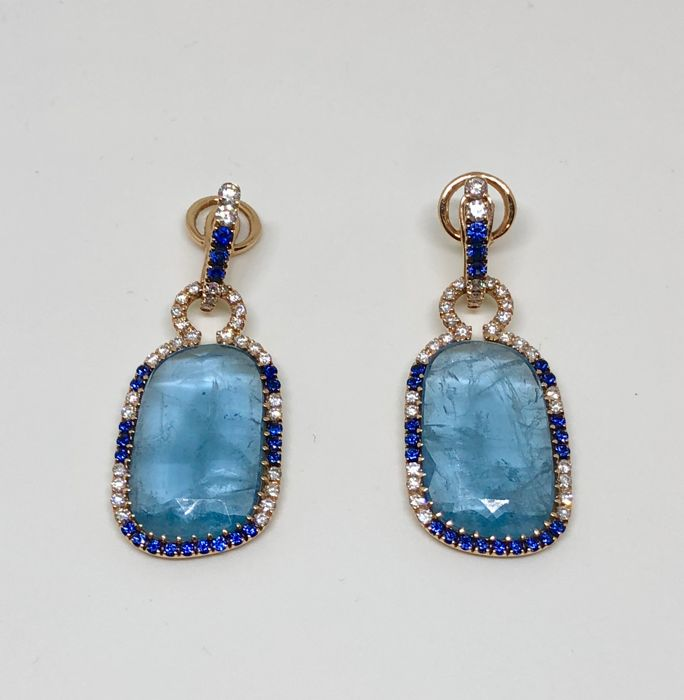 Crivelli – aquamarine earrings - diamonds - sapphires