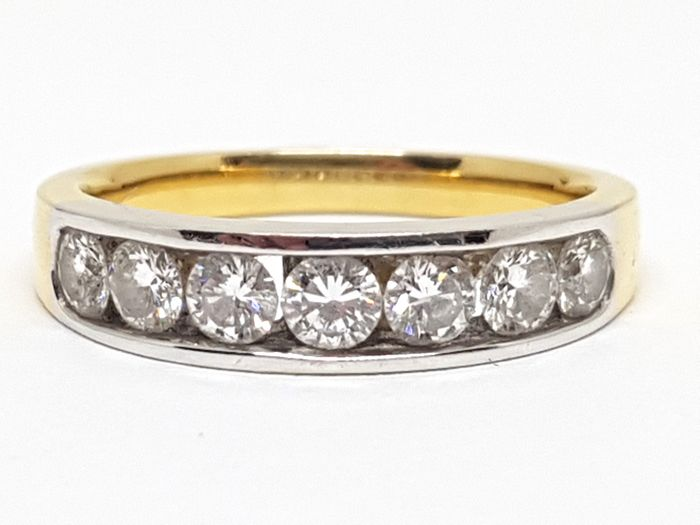 Diamond 7 Stone Alliance Ring 1,20ct.