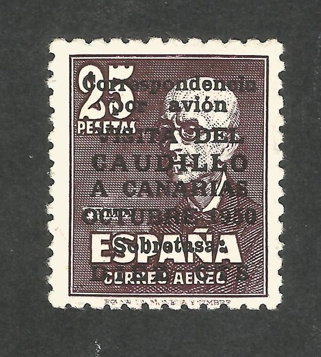 Spain 1950 - Visit of the Caudillo to the Canary Islands Without control number Graus certificate - Edifil 1083