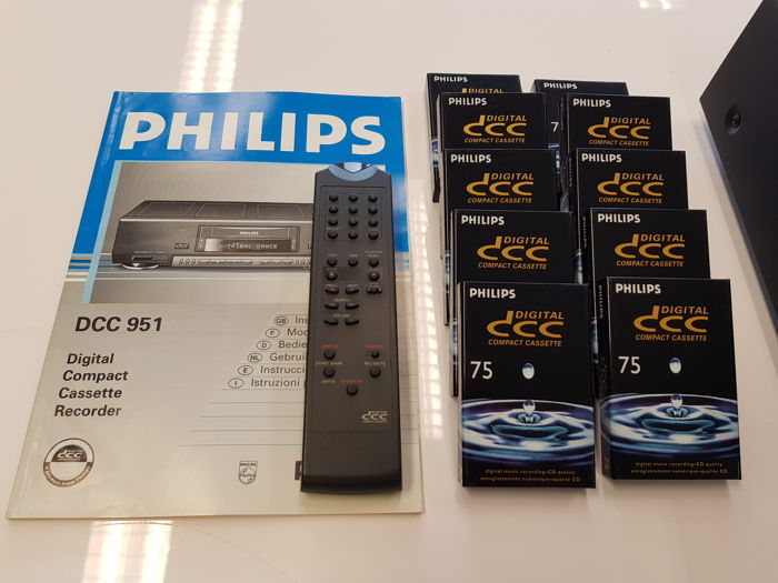 Philips DCC 951 The Best Player From In Perfect Condition With 10 New Cassettes