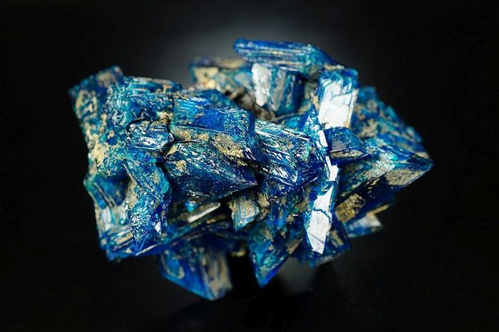 New Electric Blue Chalcanthite - big top quality crystal cluster - lab - 11,0 x 7,5 x 7,0 cm - 278 gm