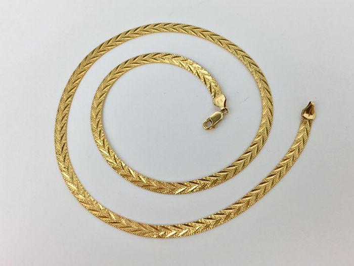 14ct Yellow Gold O C Tanner Italy Designer Women Necklace Flat