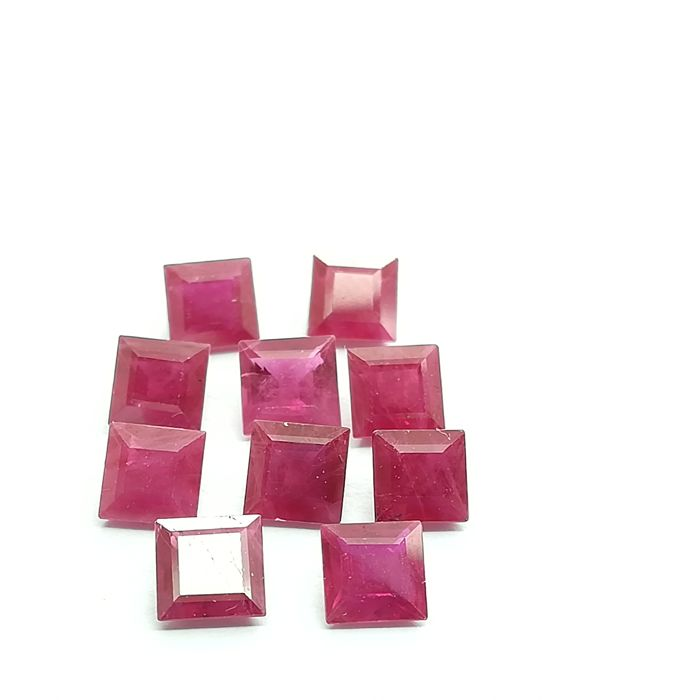 Lot of 10 rubies - 4.81 ct