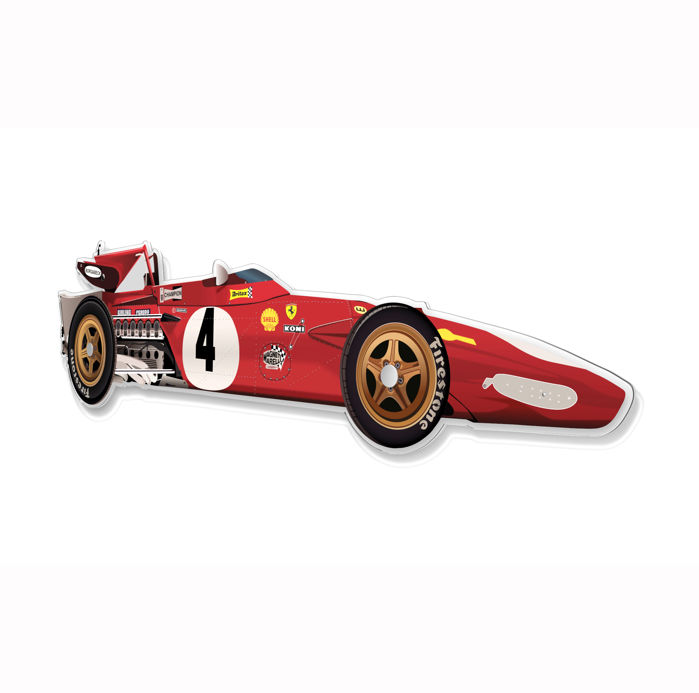 SL - Wall Scale Model Halmo Collection Ferrari 312 B