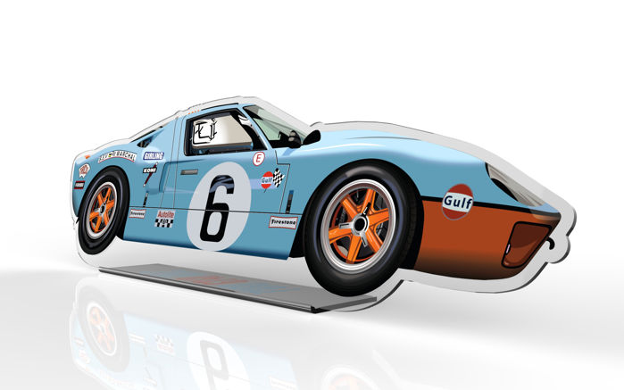 Decorative Object Desk Halmo Collection Ford Gt Gulf