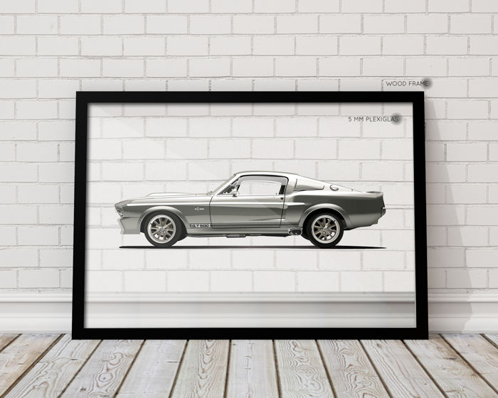 QUAD- Framed Transparent  Print Halmo Collection Shelby GT500 Eleanor