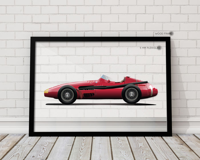 QUAD- Framed Transparent  Print Halmo Collection Maserati 250 F