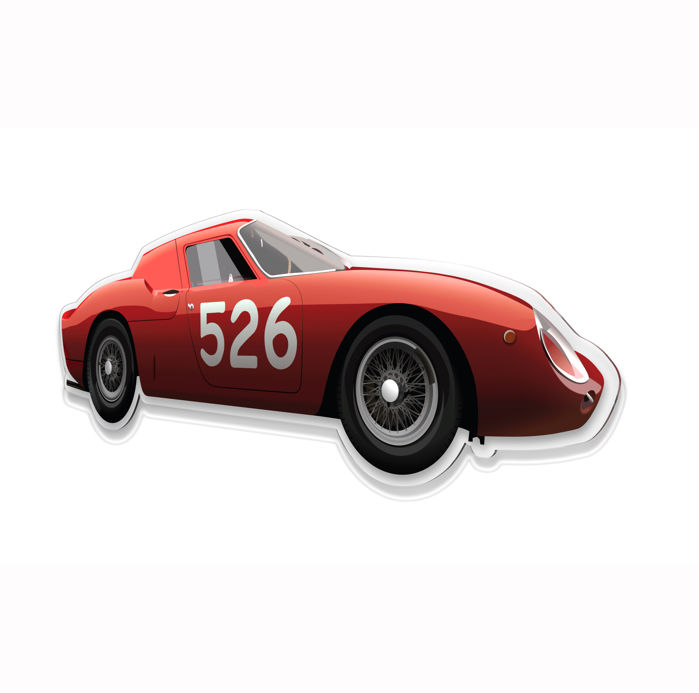 SL - Wall Scale Model Halmo Collection Ferrari 250 LM Berlinetta GT