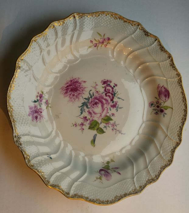 A Meissen Plate with floral decoration, Germany, Saxony, second half 18th century