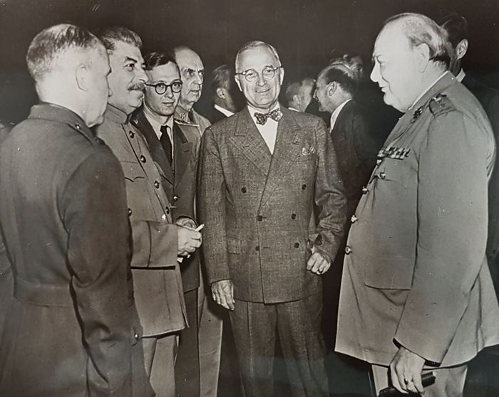 Stalin Truman Churchill Big Three Potsdam Conference 1945