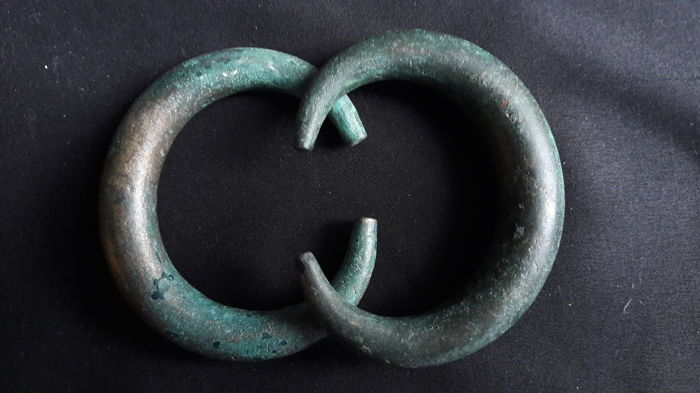 Pair of Early Celtic Culture Bracelets - 78 and 80 mm, Rare