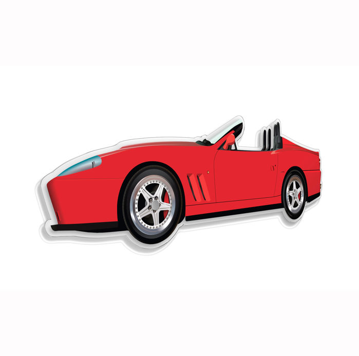 SL - Wall Scale Model Halmo Collection Ferrari 550 Barchetta