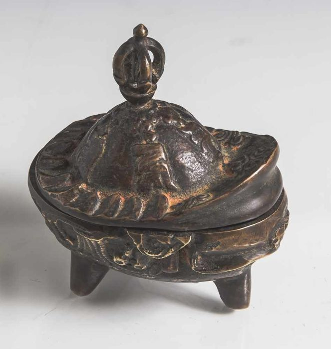 Skull bowl (Kapala) bronze patinated - Nepal - 2nd half 20th century