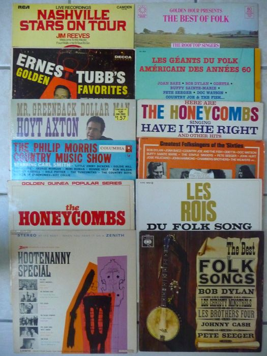 lot of 12 folk & country albums
