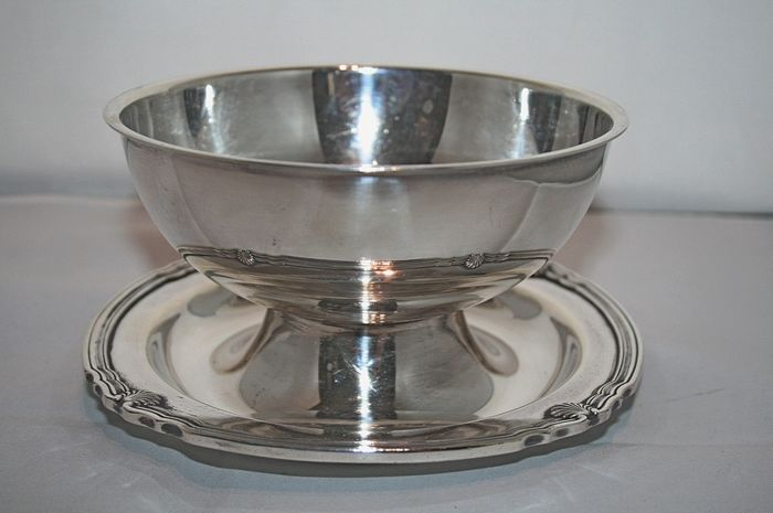 Silver plated Sauce pan, Galia Christoflle France 1937