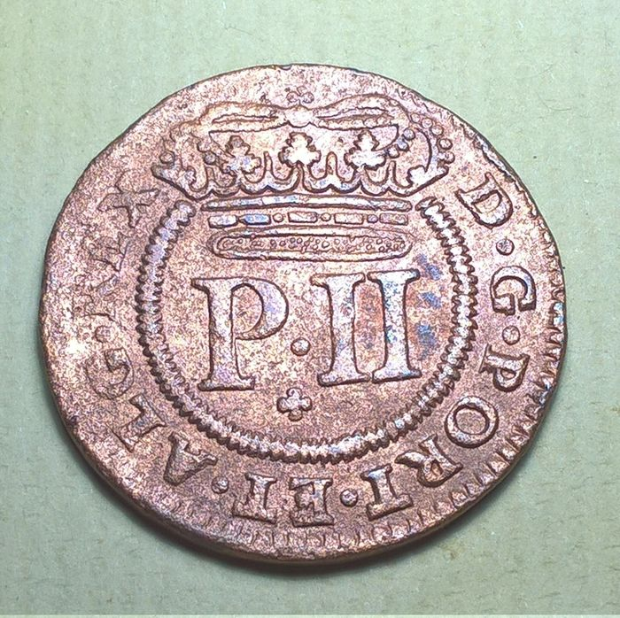 Portugal, Monarchy - Pedro II (1683-1706) - X Reis - 1699 - Copper