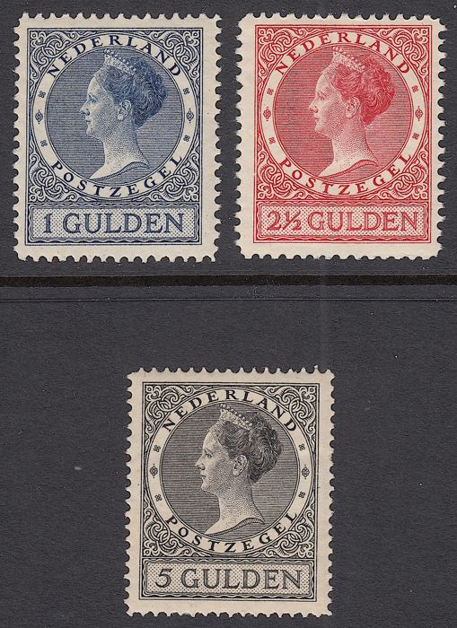 The Netherlands 1926 – Queen Wilhelmina, type 'Veth'– NVPH 163/165
