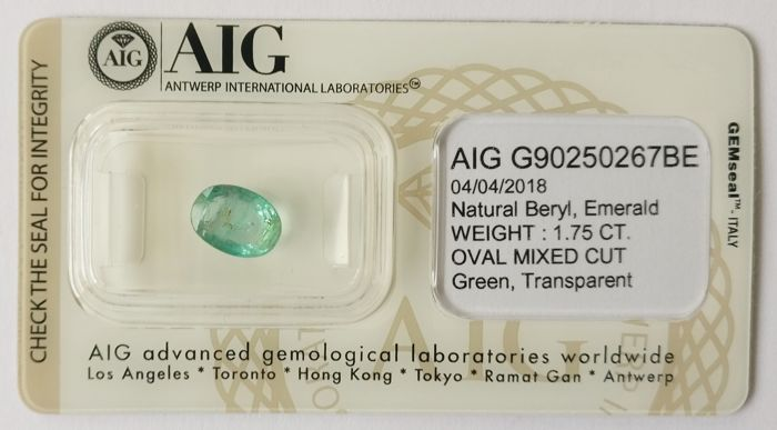 Emerald Green 1.75 ct