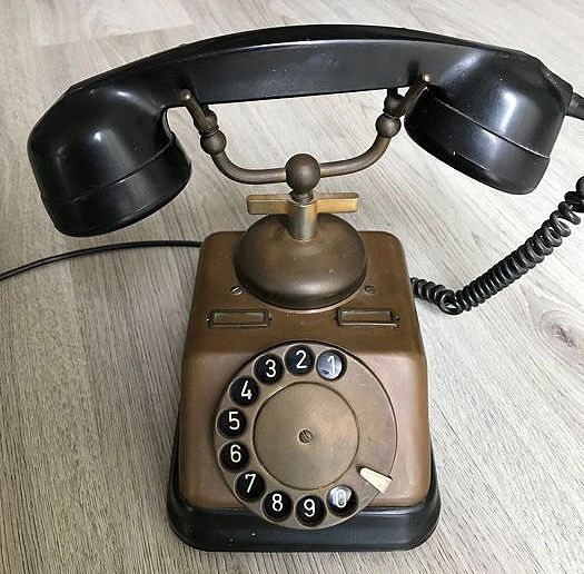 Copper telephone, 1970s