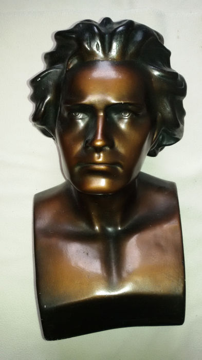 Bust of Beethoven- plaster with bronze patina - approx. 1935, Italy