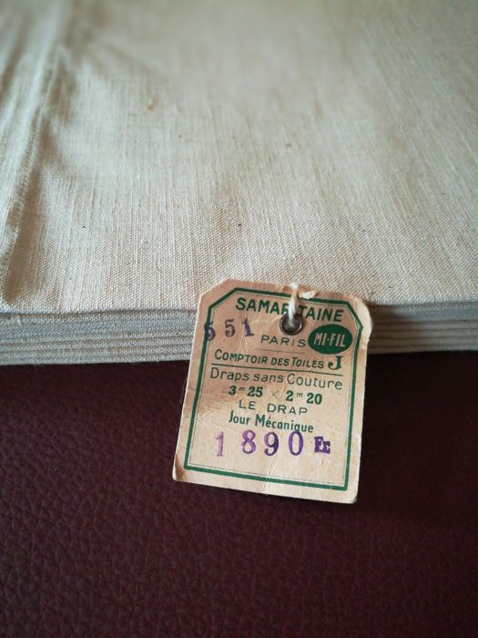 Old sheets, La Samaritaine, lot of 2