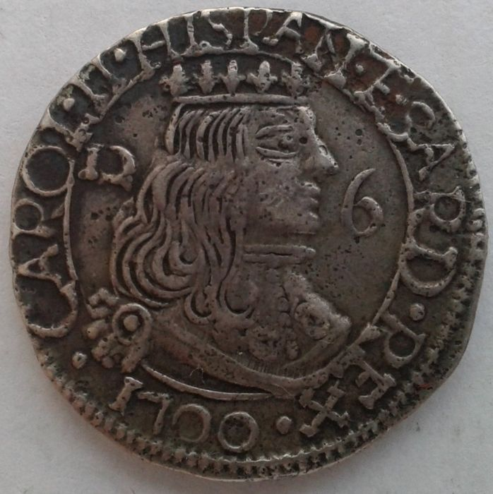 Kingdom of Sardinia - 2.5 Reali Cagliari 1700 Carlo II of Spain (1665-1700)