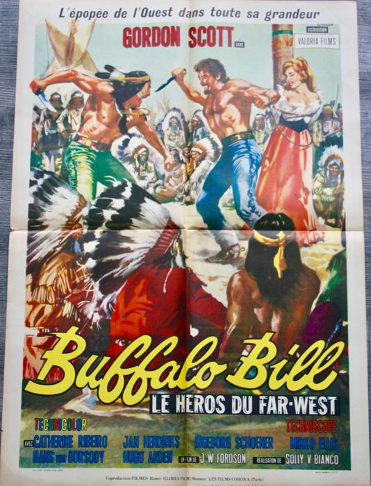 Movie poster 'Buffalo Bill, le héros du Far West' - 1965 - OE