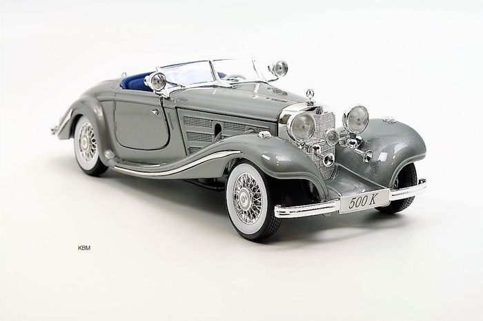Maisto Special Edition - 1:18 - Mercedes-Benz 500 K Special Roadster Silver