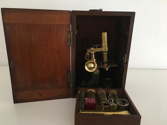 English Monocular microscope R. Field & Son - Ca 1900