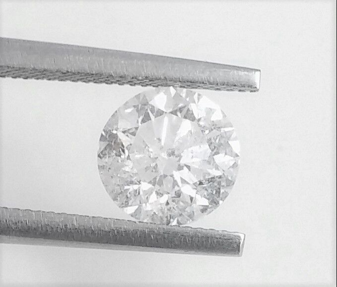 Brilliant Diamond of  1.37 carat , D color , SI1 clarity , Big AIG certificate + Laser Inscription on Girdle