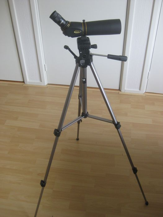 Telescope: LUXON 25 x 50 with a large tripod  brand LUXON.