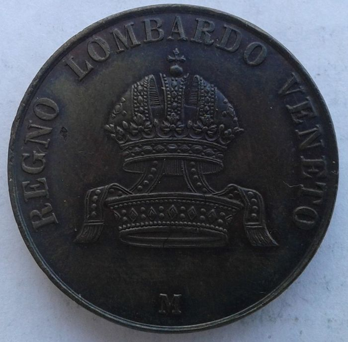 Kingdom of Lombardy Venetia - 10 Centesimi 1849 Francesco Giuseppe I
