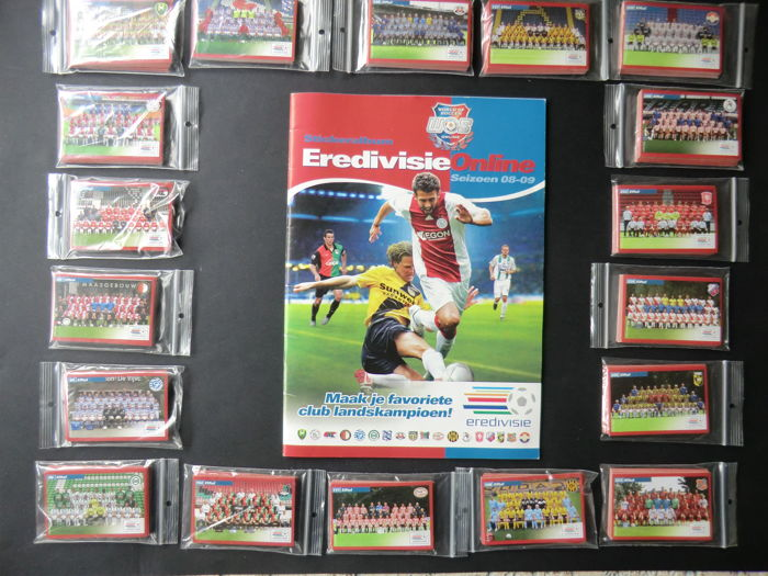 """Variant Panini - """"World of Soccer"""" Eredivisie Online season 08/09 - Empty album + complete set of loose players cards"""