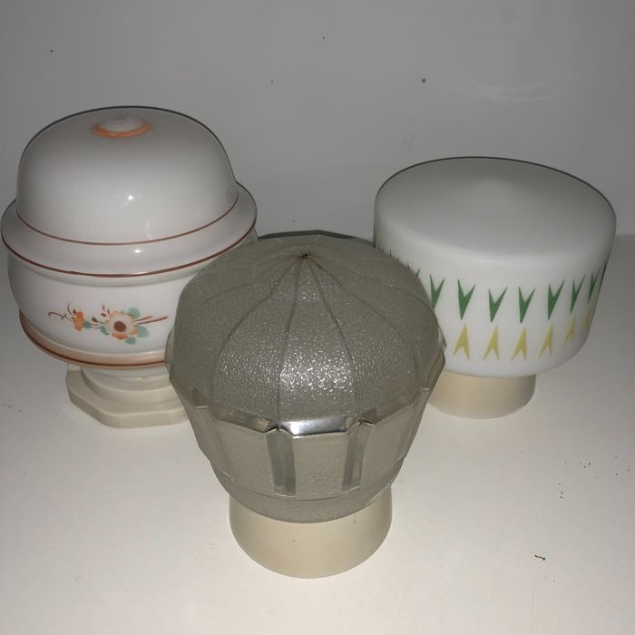 Three Art Deco Ceiling Lamps - First half of the 20th century