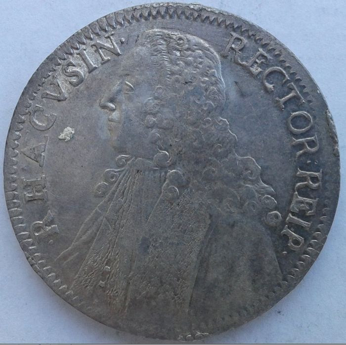 Republic of Ragusa (Dubrovnik), 1358-1808 Thaler Rectoral 1758