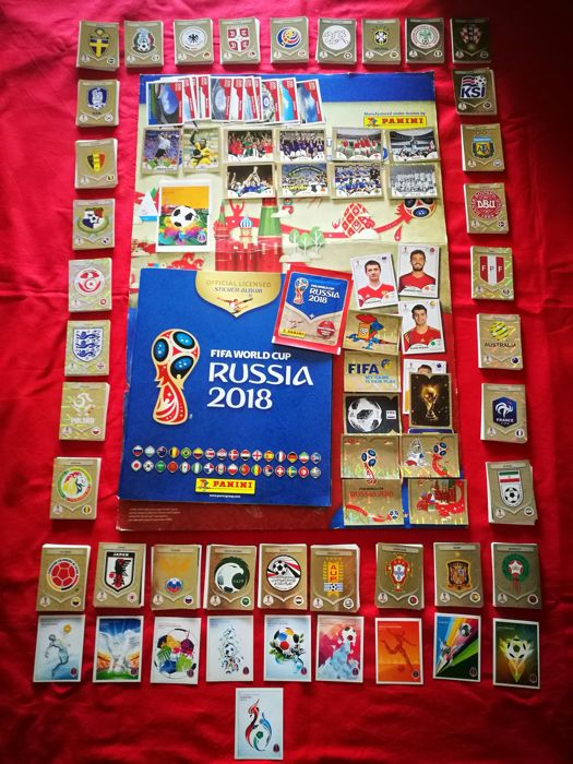 Panini - Russia 2018  World Cup - Complete loose stickerset + Empty album + 1 packet.