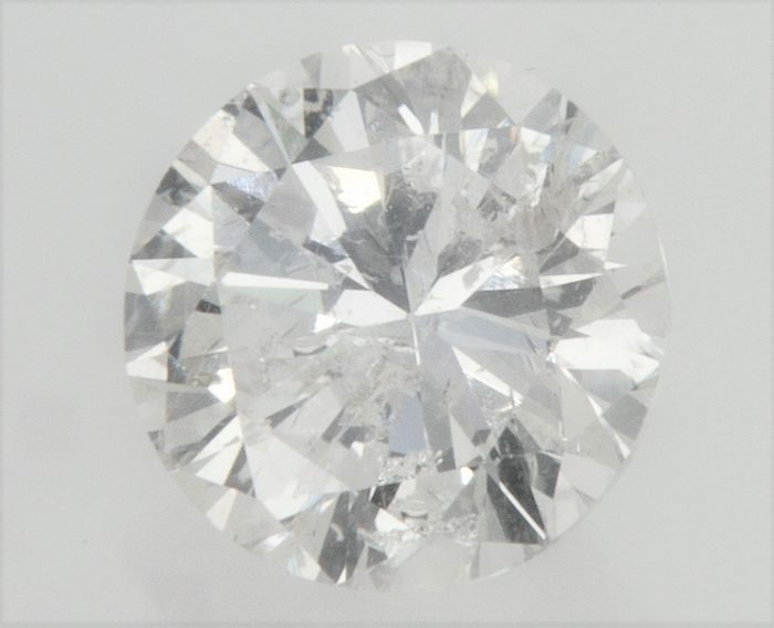 Brilliant Diamond of  0.91 carat , F color , SI1 clarity , Big AIG certificate + Laser Inscription on Girdle