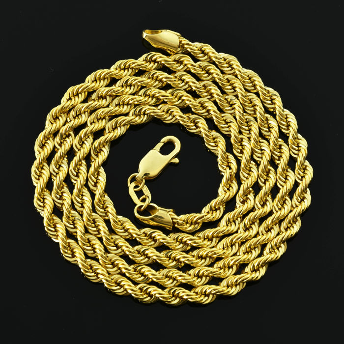 Gold 18 kt  Necklace - cord Length: 60 cm Weight 7.78 g