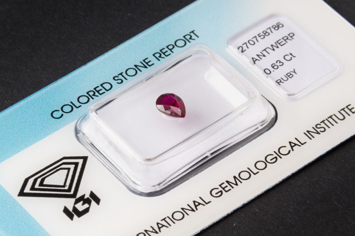 Ruby - 0.63 ct