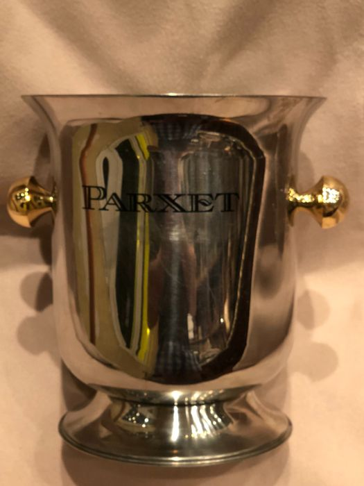 French Champagne Parxet Bucket cooler silver plated