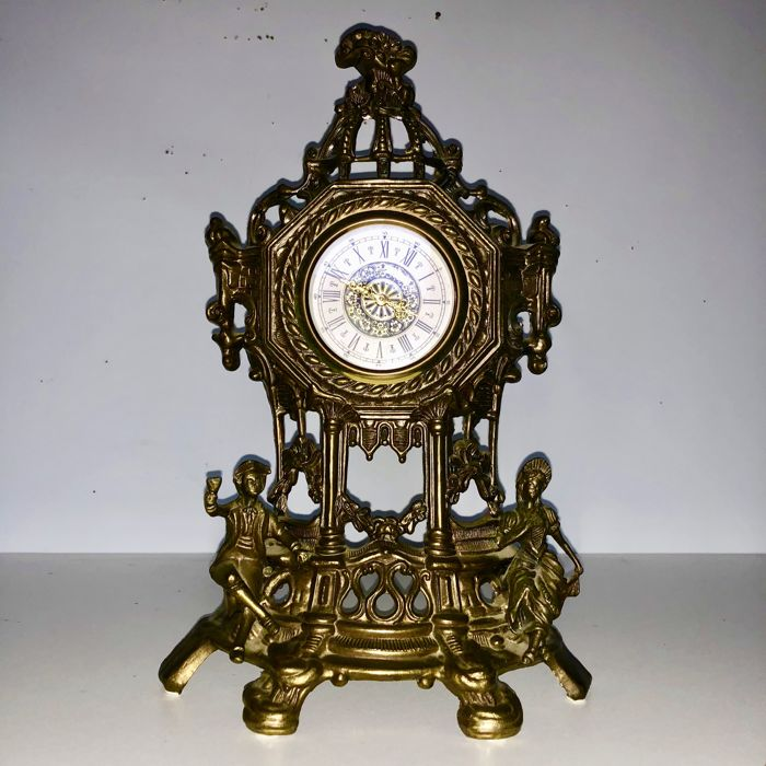 Richly Ornamented Bronze Rococo/Barko style clock-early 1900