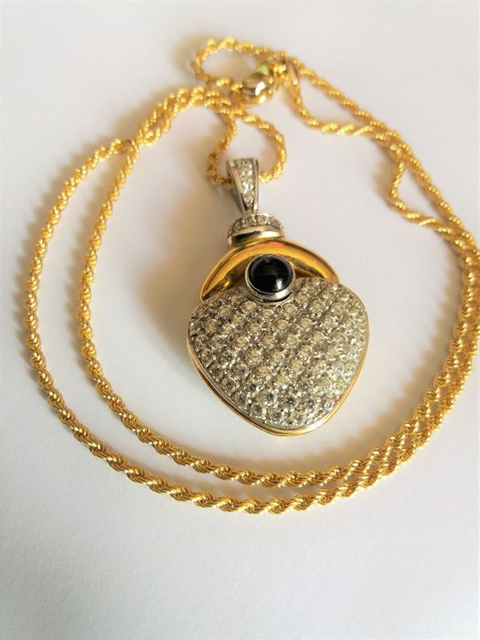 One-of-a-kind pendant, late 1980s, made in Italy, 18 kt gold, 26 grams