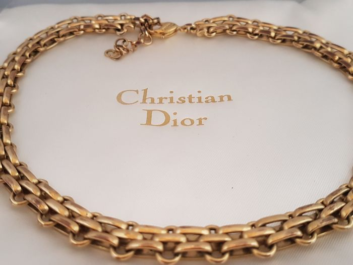 59b81424a1584f Christian Dior - heavy chain necklace and bracelet - Vintage - Catawiki