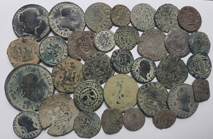 spain lot of 33 spanish coins 1500 1900 a d europe catawiki lot of 33 spanish coins 1500 1900 a d