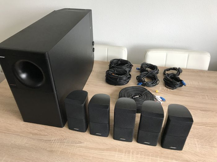 very beautiful and powerful black bose acoustimass 15 surround set catawiki. Black Bedroom Furniture Sets. Home Design Ideas