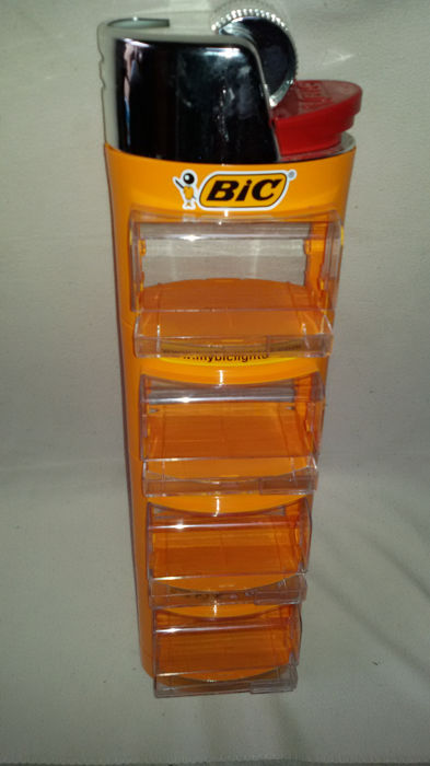 BIC plastic counter display in the shape of a lighter - France - approx 1998